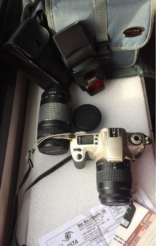 Camera Canon Eos 300 Completa, Com Lentes, Flash E Bolsa