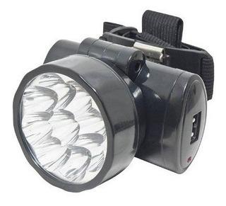 Lanterna Para Cabeça 9 Leds Recarregável Bivolt Noll