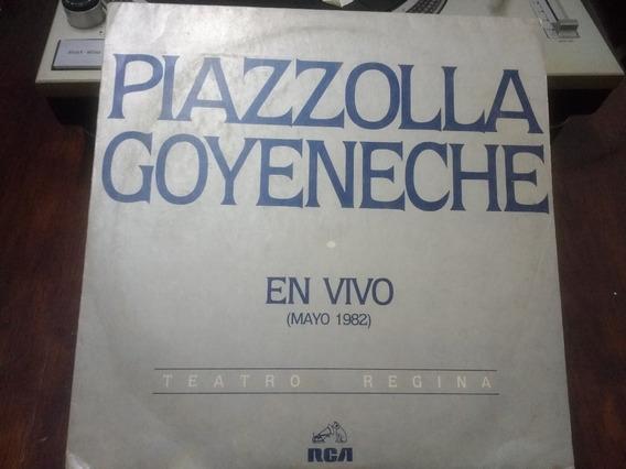 Disco De Vinilo - Piazzola Goyeneche - En Vivo Teatro Regina