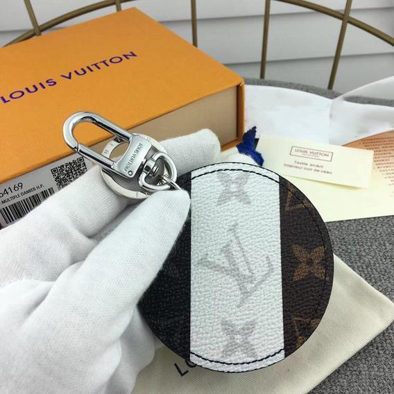 Chaveiro Louis Vuitton - Lona - Couro