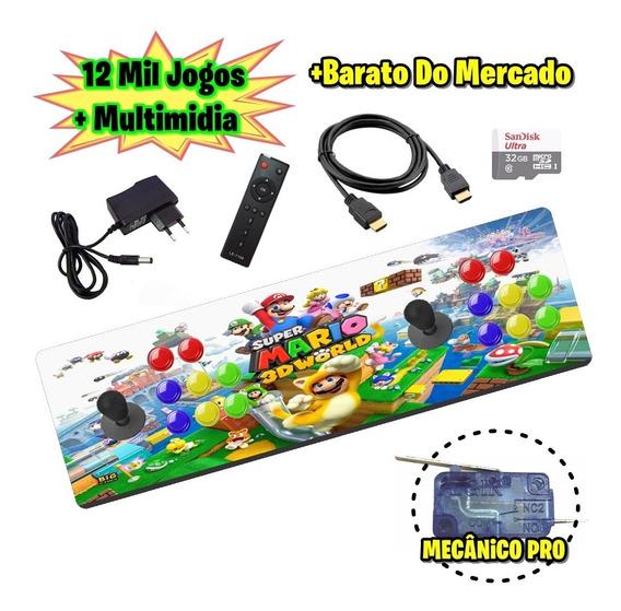 Arcade Portátil Com 12mil Jogos
