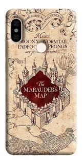 Estuche Forro Carcasa Harry Potter Map Xiaomi Motorola Asus