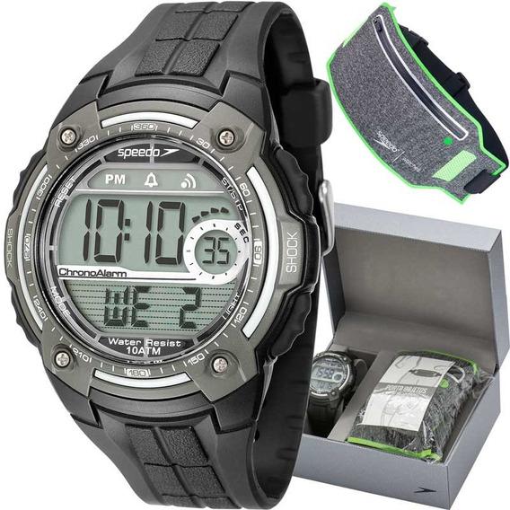 Kit Relógio Masculino Digital Preto E Cinza Speedo 80581g0ev