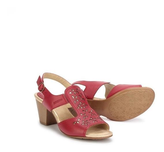 Sandalias Zapatos Onena 1953 Colores Rojo O Negro Piel