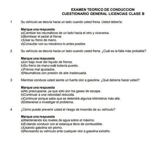 Libro Del Nuevo Conductor Clase B 2018 Mas Cuestionario Mercado Libre