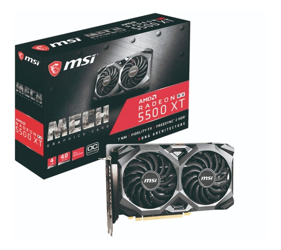 Placa De Video Msi Amd Radeon Rx 5500 Xt 4gb Ddr6 Mech Oc Hf