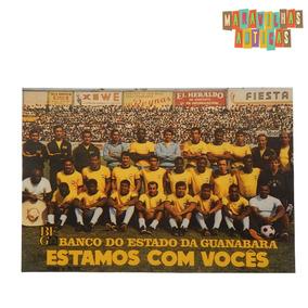 Cartão Postal Seleção Brasileira De Futebol 1970