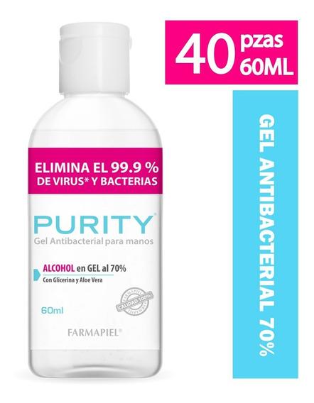 Purity Gel Antibacterial 70% 40 Piezas 60ml
