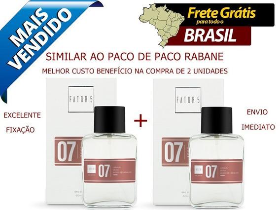 2 Perfumes Da Fator 5 Nº 07 - Similar Ao Paco De Paco Rabane