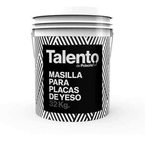 Masilla Placas Yeso Durlock 32kg Talento - 18 Cuotas S/int