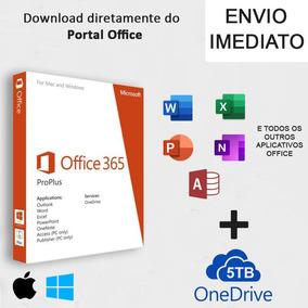 Office 365 2019 Pro + 5tb One Drive Até 5pc Windows E Mac