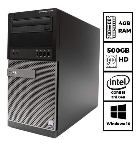 Imagem 1 de 6 de Cpu Dell Optiplex 7010 Core I5 3570 4gb 500gb Envio Imediato