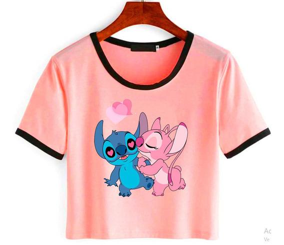Remera Corta Stitch Disney Varios Diseños Ideal Regalo
