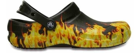 Zapato Unisex Para Chef Crocs Bistro Flamas Clog