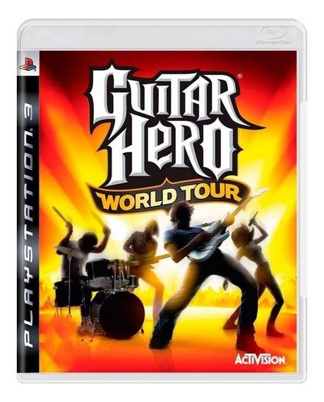 Game Play3 - Guitar Hero World Tour - Semi-novo Jogo Ps3