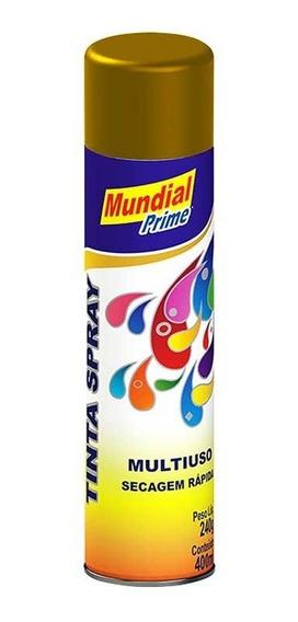 Tinta Spray Automotiva Uso Geral 400ml - Ouro