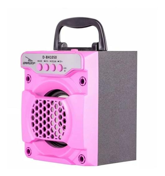 Caixa Som Bluetooth Radio Fm Portátil 8w Rms Celular Sd Usb