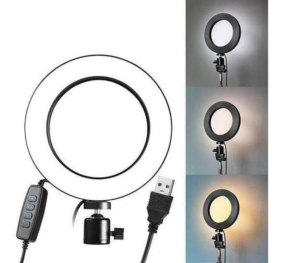 Iluminador Ring Light Anel Luz 26cm Mak Fotos Com Tripé 1,80 Kit Completo Novo Em Promoção Com Garantia Do Vendedor