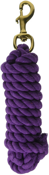 Hamilton Cotton Lead With Brass-plated Bolt Snap, Púrpura, M