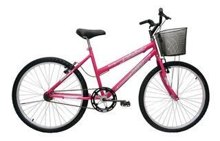 Bicicleta Aro 24 Feminina Bella Com Cesta - Cairu