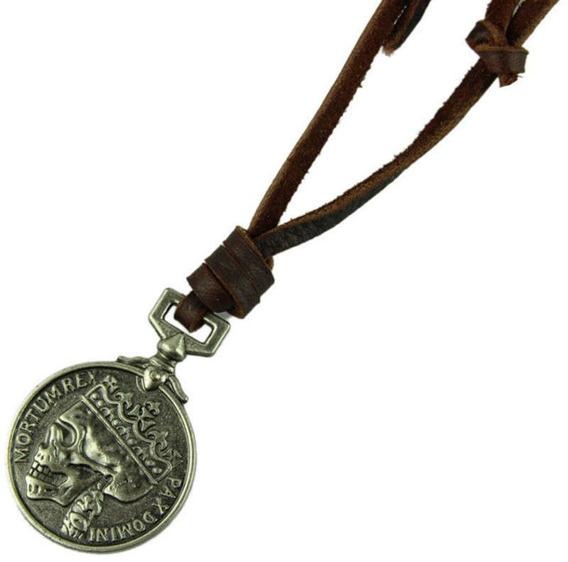 Colar Decovian Medalhão Skull Prata - Imperdível