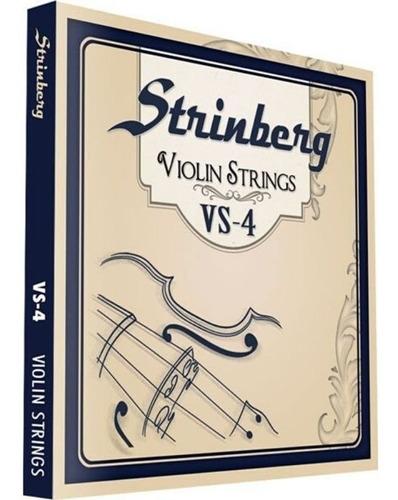 Imagem 1 de 3 de Encordoamento Jogo De Cordas Para Violino 4/4 Vs4 Strinberg