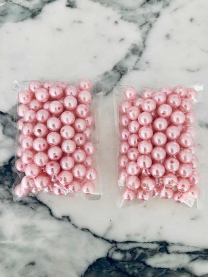 200 Perlas Rosas Para Coser De 10mm De Plástico. Oferta!