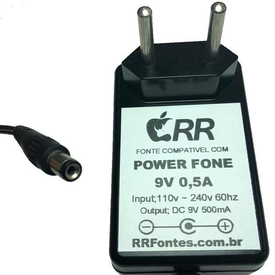 Fonte 9v 500ma Para Pws Amplificador De Fones Ph-2000