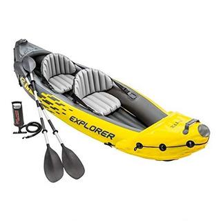 Intex Explorer K2 Amarillo Kayak Inflable De 2 Personas Con