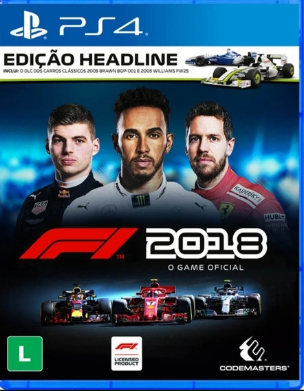 F1 2018 Ps4 Digita1 Original Psn - Jogo Vitalicio
