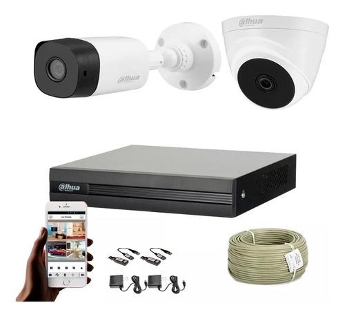 Cámaras De Seguridad Kit Cctv 1080p Cooper By Dahua Dvr+2cám