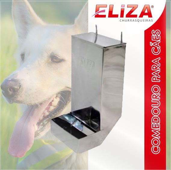 Comedouro Cães E Gatos 04kg Automático Inox Cachorro