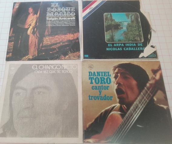 Lote De 4 Discos De Vinilo Música Nacional D19