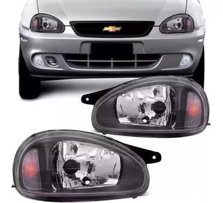 Juego Optica P/ Chevrolet Corsa 2007 2008 2009 Fondo Negro