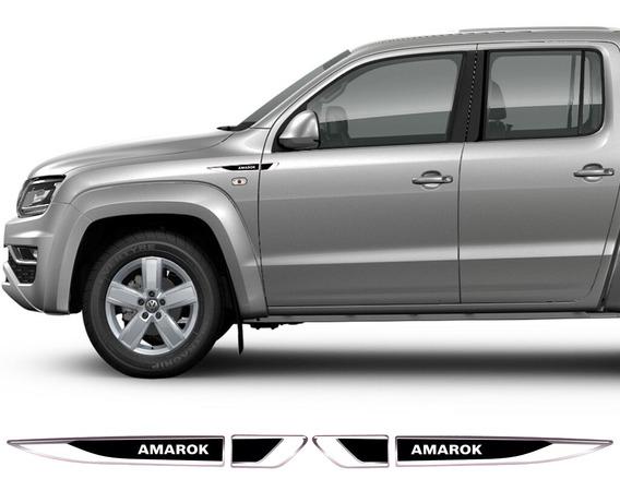 Acessorios Par Emblema Lateral Volkswagen Vw Amarok Resinado
