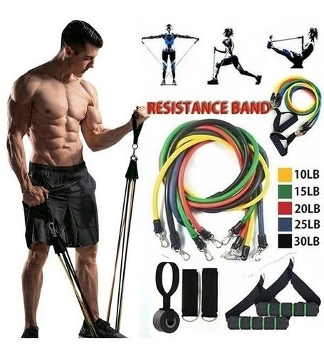 Kit Bandas De Resistencia Gym Fitness Portátiles Full Trakin