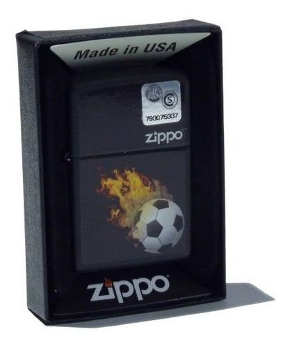 Imagen 1 de 2 de Encendedor Zippo Soccer Made In Usa 28669