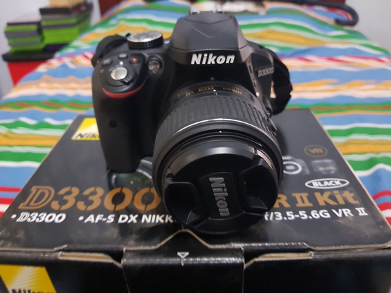 Câmera Nikon D3300 Lente 18-55mm - À Vista R$1750