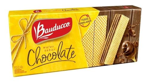 Imagem 1 de 1 de Bolacha Wafer De Chocolate Bauducco 140g