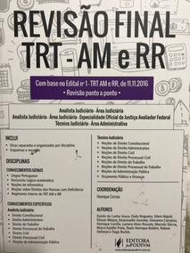 Livro Revisão Final Trt-am E Rr 2017 Novo
