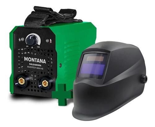 Soldadora Inverter Montana 140 Amp + Careta Fotocromática