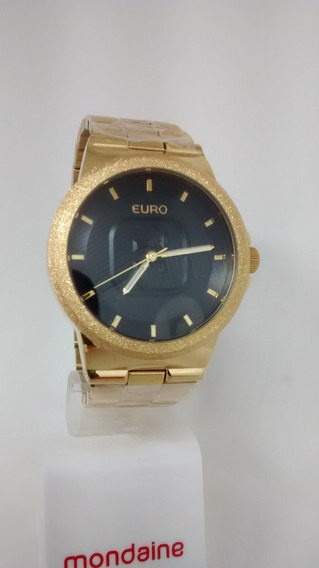 Relógio Euro Unisex Dourado E U 2036 Lzx