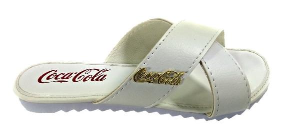 Sandália Feminina Tratorada Coca Cola Dourada Frete Grátis