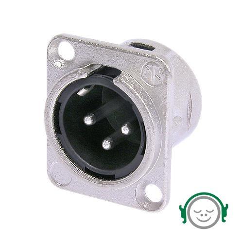 Conector De Painel Xlr Macho Neutrik Nc3fxx - Mg Som