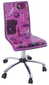 Cadeira De Computador Lilás Goods Br 87x43,5x55cm