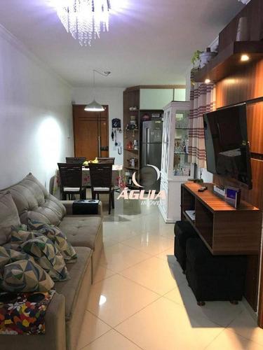 Imagem 1 de 24 de Cobertura Com 2 Dormitórios À Venda, 46 M² + 46m² Por R$ 380.000 - Vila Helena - Santo André/sp - Co0996