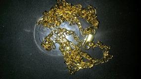 Men Fashion 18k Yellow Gold Gf Twisted Wedding Cha