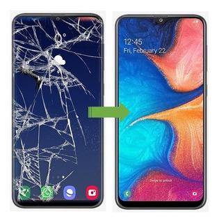 Cambio Vidrio Roto Astillado Samsung A10.m10, En 2 Horas