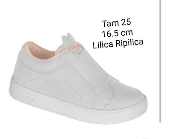 Tênis Lilica Ripilica Slip On Couro Liso
