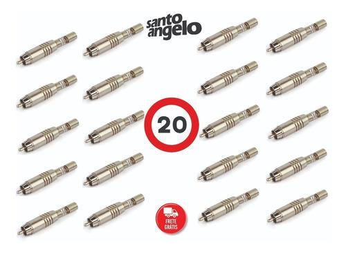 Imagem 1 de 2 de Kit 20 Conectores Santo Angelo Rca Ninja